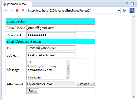 how to send email with attachment in java