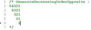 GenerateDecreasingOrderOpposite2